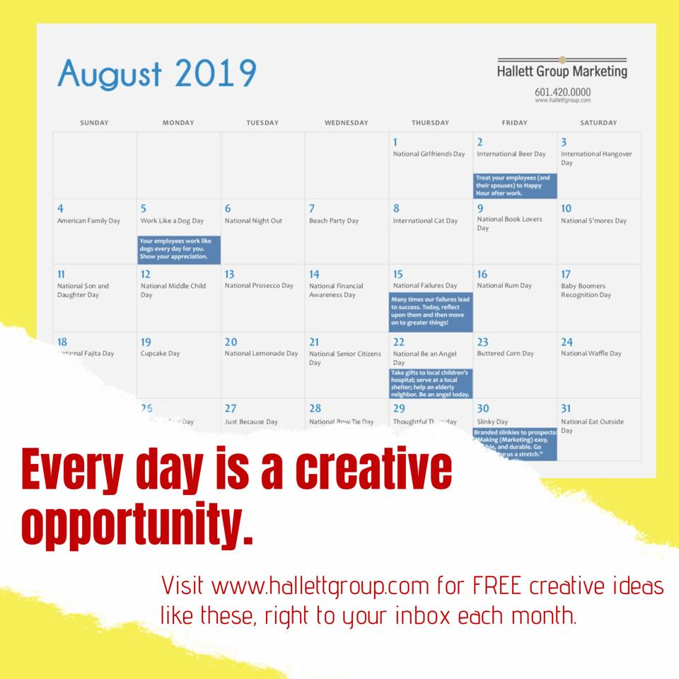 Every day is a creative opportunity
