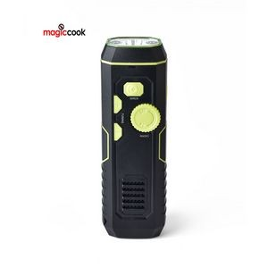 Emergency Crank Flashlight Radio with USB Charging in Out, Emergency Siren